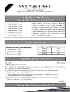 Cis resume standards