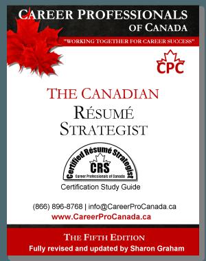 Canadian Resume Certification Certified Resume Strategist CRS