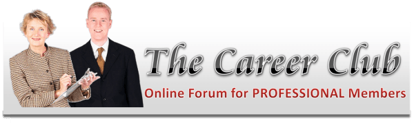 The Career Club online forums for professional members